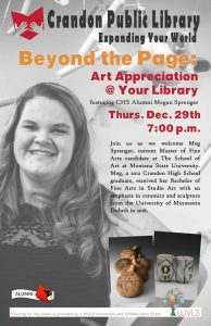Crandon Public LIbrary Art Speaker 2016