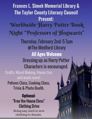 FLS Medford Feb 2017 Harry Potter Night