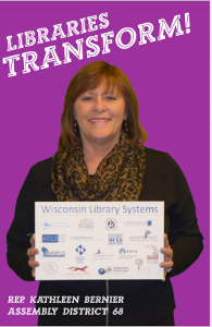Rep Bernier Libraries Transform Poster