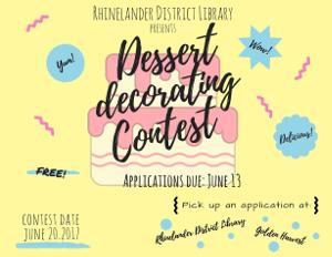 Rhinelander DL Dessert Decoration Contest June 2017
