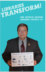 Rep Snyder Libraries Transform Poster