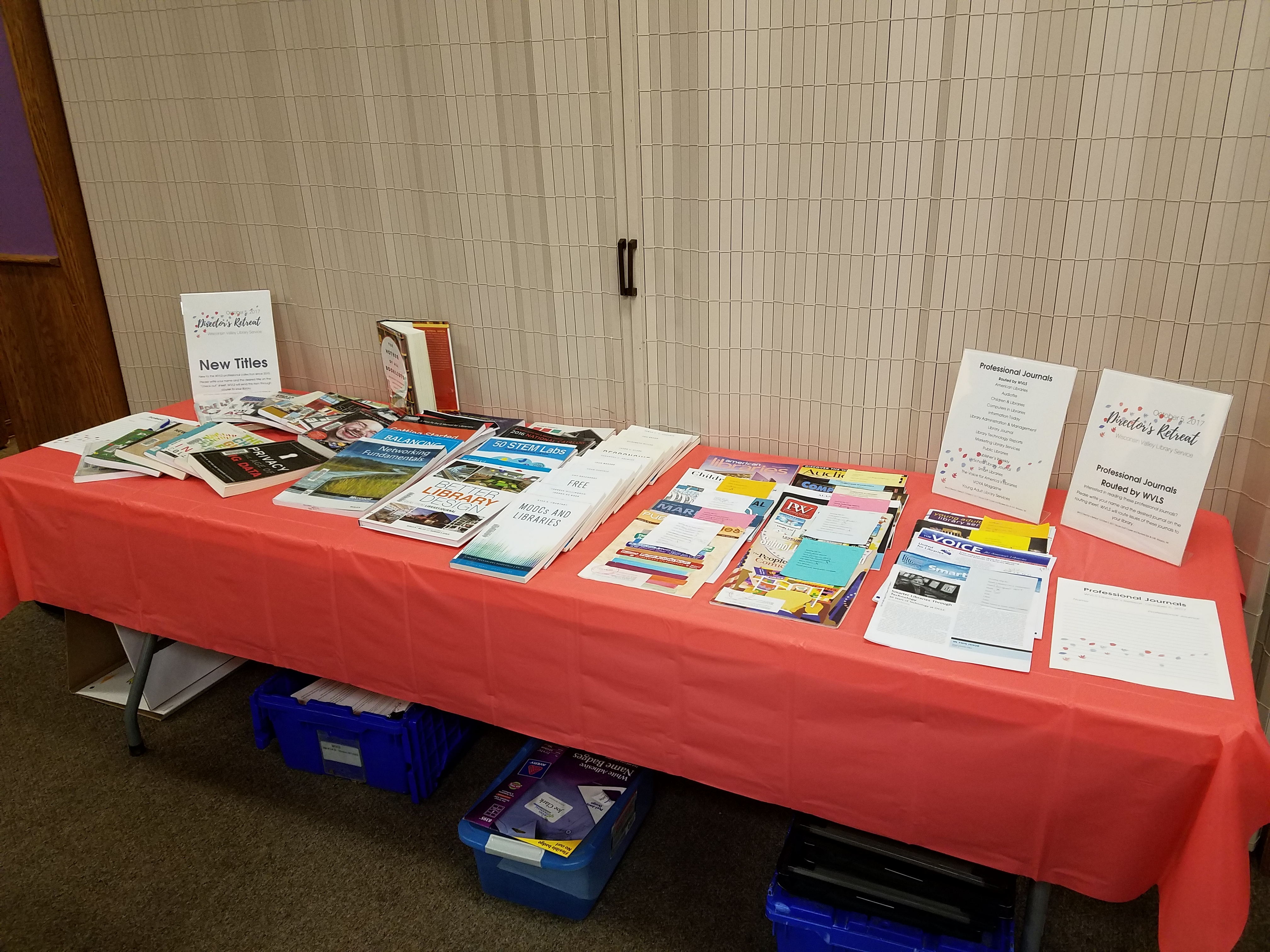 Professional Resources Table