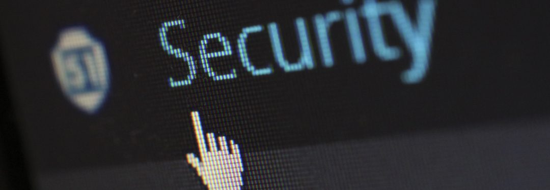 Secuirty text with a mouse hovering over the word security.