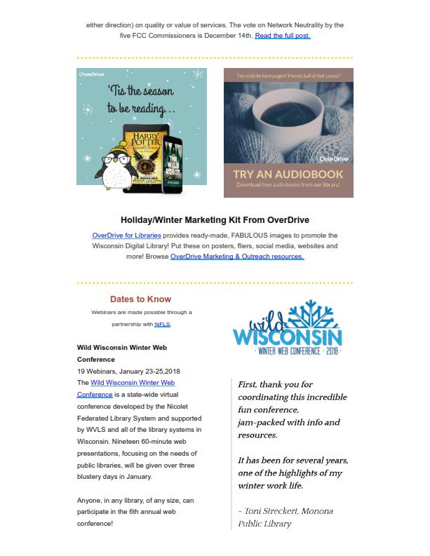 WVLS Newsletter 23 December 8 2017 Page 22