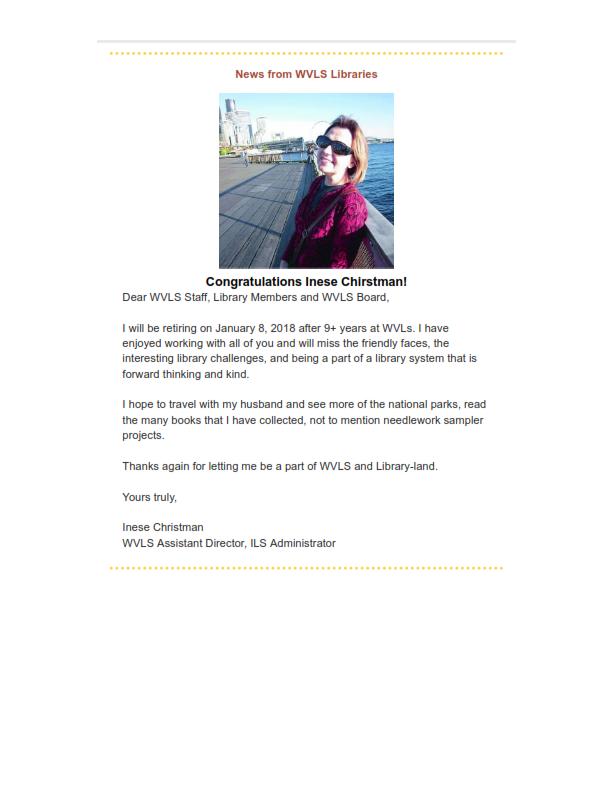 WVLS Newsletter 23 December 8 2017 Page 3
