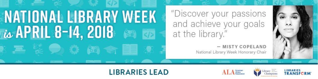 National Library Week Coming Soon